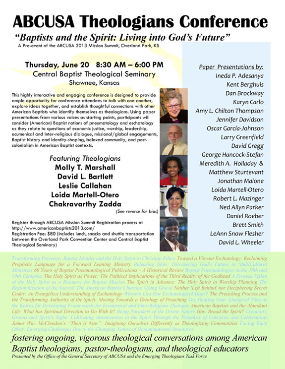 Learn More: ABCUSA Theologians Conference