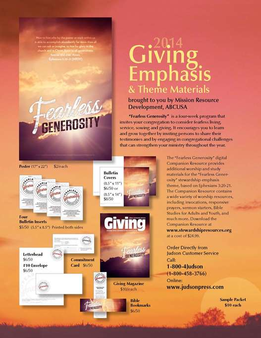New 2014 Stewardship Emphasis Materials Now Available!