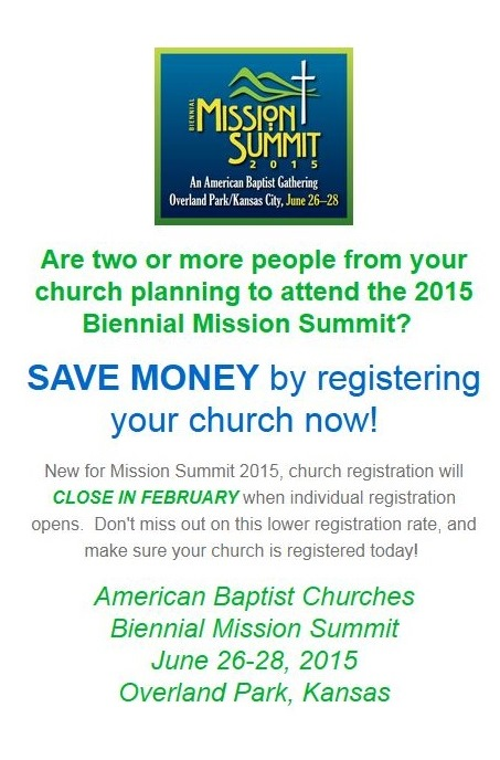 Register your Church for Mission Summit 2015!