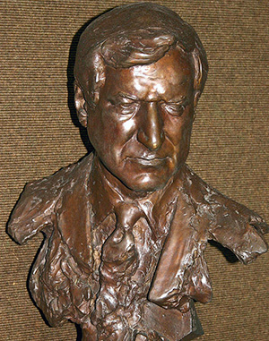 A bust of Dean Smith in the Dean Smith Center in Chapel Hill, N.C. (Photo by Rob Goldberg via Wikimedia Commons)