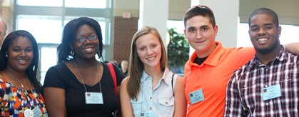 A Group of Young People hanging out during Mission Summit 2013
