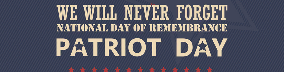 Poster for National day of remembrance with september 911 memorial