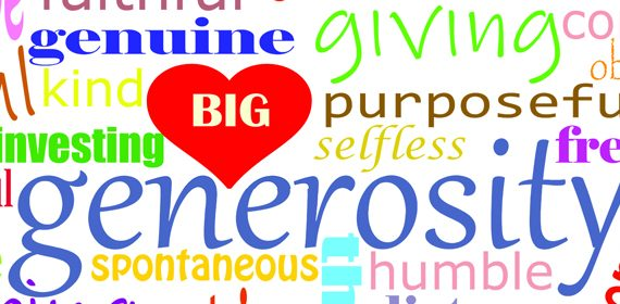 Generosity is...Relational