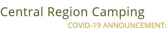 COVID-19 Camping Announcement - ABC of the Central Region