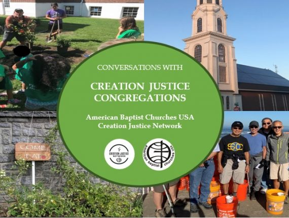 Second Conversation in Creation Justice Congregations Conversation Series Announced